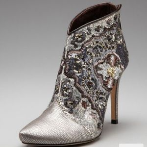 Rene Caovilla stiletto sequined booties
